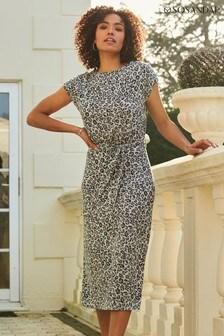 Sosandar Animal Print Premium Jersey Midi Dress