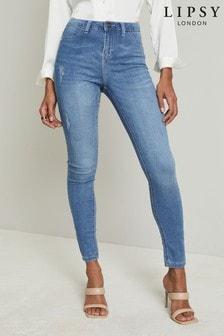 Lipsy Mid Rise Faux Pocket Skinny Jean
