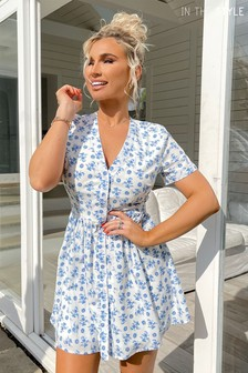 In The Style Billie Faiers Floral Button Down Dress