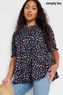 Simply Be Tiered Smock Top