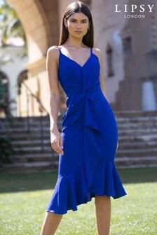 Lipsy Twist Front Midi Dress