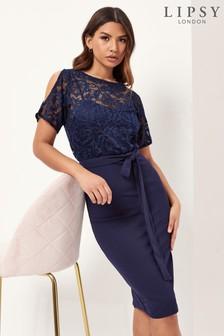 Lipsy Cold Shoulder Midi Dress