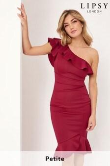 Lipsy One Shoulder Ruffle Dress