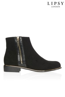 Lipsy Flat Zip Ankle Boot