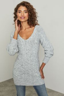 Lipsy Knitted Cable Longline Jumper