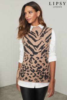 Lipsy Animal Knitted Vest