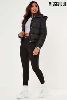 Missguided Hooded Padded Puffer