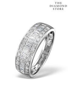The Diamond Store Eternity Ring Baguette Diamond 0.22ct in 9K White Gold