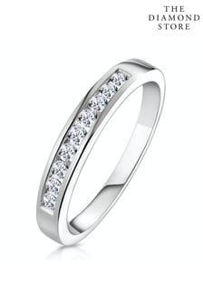 The Diamond Store Rae Half Eternity Ring Channel Set 0.25CT Lab Diamond 9K White Gold