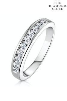 The Diamond Store Rae 0.50CT Lab Diamond Half Eternity Ring 9K White Gold