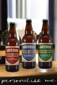 Personalised Dad's Beer Set 3 pack by Signature Gifts