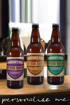 Personalised  Granddad's Beer Set 3 pack by Signature Gifts