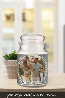 Personalised Photo Upload Candle Jar by Signature Gifts