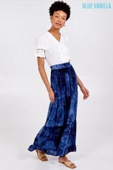 Blue Vanilla Tiered Maxi Skirt