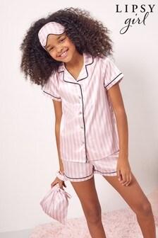 Lipsy Satin 5 Piece Pyjama Set