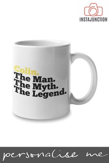 Personalised The Man The Myth The Legend Father's Day Mug by Instajunction