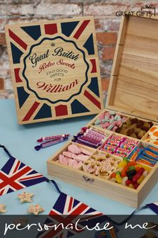 Personalised Great British Retro Sweets Box by Great Gifts