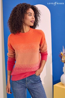 Love & Roses Relaxed Longline Jumper