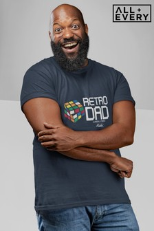 Rubik's Classically Trained Retro Dad Father's Day Men's T-Shirt
