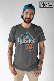 Rubik's I Grew Up On The Cube Retro Dad Father's Day Men's T-Shirt