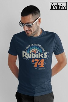 Rubik's I Grew Up On The Cube Retro Dad Men's T-Shirt