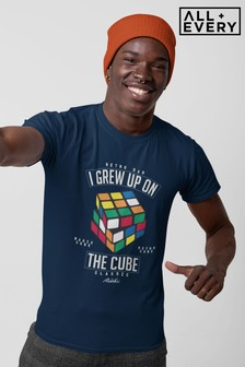 Rubik's Retro I Grew Up On The Cube Dad Father's Day Men's T-Shirt