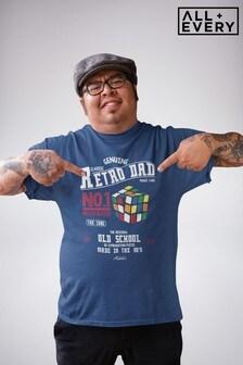 Rubik's Retro Dad No. 1 Brain Buster Father's Day Men's T-Shirt