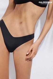 Calzedonia Indonesia Black High Leg Eco Fibre Bikini Briefs