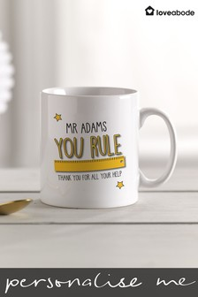Personalised Teacher Mug by Loveabode