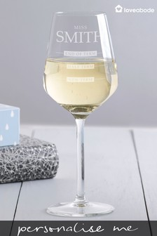 Personalised Large Wine Glass by Loveabode