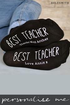 Personalised Best Teacher Women's Socks by Solesmith