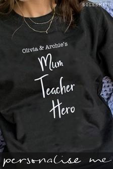 Personalised Mum Teacher Hero Jumper by Solesmith