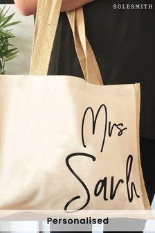 Personalised Teacher Gift Jute Bag by Solesmith