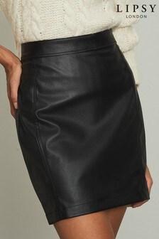 Lipsy Faux Leather Mini Skirt