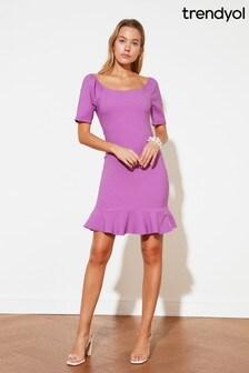 Trendyol Frill Hem Mini Dress