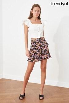 Trendyol Floral Mini Skirt
