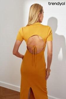 Trendyol Midi Polo Shirt Dress