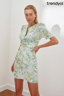 Trendyol Floral Puff Sleeve Mini Dress