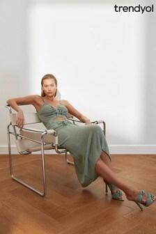 Trendyol Cut Out Detail Tye Midi Dress