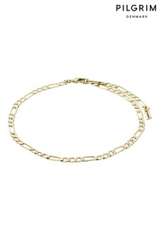 PILGRIM Plated Dale Ankle chain