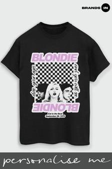 Blondie Checked Boyfriend Fit T-Shirt