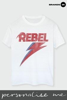 David Bowie Distressed Rebel Boyfriend Fit T-Shirt