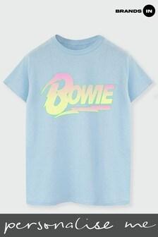 David Bowie Neon Logo Boyfriend Fit T-Shirt