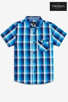 Threadboys Kyle Checked Short Sleeve Shirt