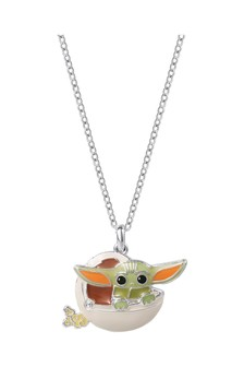 Peers Hardy Star Wars The Mandalorian The Child green Enamel Silver plated Brass Pendant Necklace