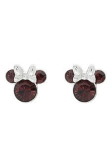 Peers Hardy Disney Minnie Silver Plated Birthstone Stud Earrings