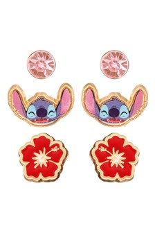 Peers Hardy Disney Lilo Stitch Multicoloured enamel Costume 3pc Earring Set