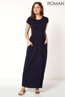 Roman Gathered Skirt Maxi Dress