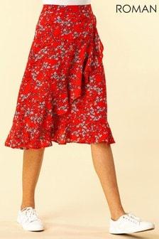 Roman Ditsy Floral Ruffle Detail Skirt