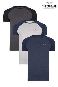 Threadbare 3 Pack Cotton Rich T Shirts